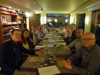 BFL Dinner in a London wine cellar, summer 2015