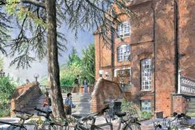 Linacre College Front from Contemporary Watercolours