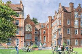 Linacre College Garden from Contemporary Watercolours