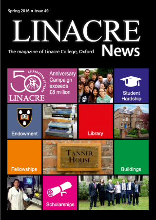front cover linacre news