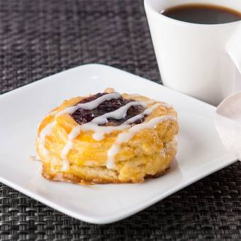 Danish pastries and coffee