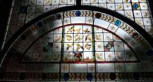 Library stained glass