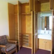 Bamborough bedroom storage and washbasin
