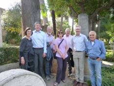 ILL 2014 tour of Non-Catholic Cemetery Rome