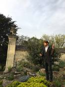 chris leading tour at botanic garden